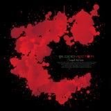 Абстрактный splatter крови изолированный на черной предпосылке, des Стоковое Фото