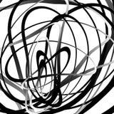 Абстрактный squiggle, squiggly, curvy линии Monochrome геометрический p Стоковое Изображение