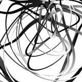 Абстрактный squiggle, squiggly, curvy линии Monochrome геометрический p Стоковые Фото