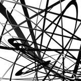 Абстрактный squiggle, squiggly, curvy линии Monochrome геометрический p Стоковые Фотографии RF