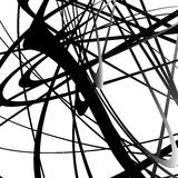 Абстрактный squiggle, squiggly, curvy линии Monochrome геометрический p Стоковые Изображения RF