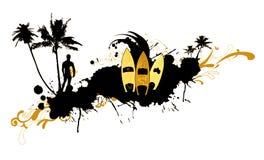 абстрактный surfboard 2 Стоковые Изображения RF