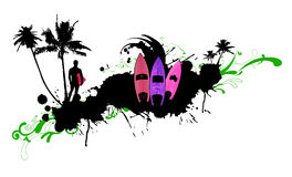 абстрактный surfboard 3 Стоковые Изображения
