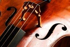 абстрактный violoncello нот Стоковое Фото
