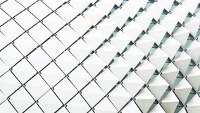 Абстрактным градиент белизны картины прямоугольника сложенный квадратом стоковое изображение rf