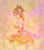 абстрактным женщина текстурированная grunge Стоковое Изображение