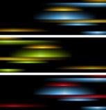Абстрактным знамена striped техником Стоковое фото RF