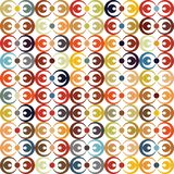 Абстрактным картина круга текстурированная вектором Стоковое фото RF