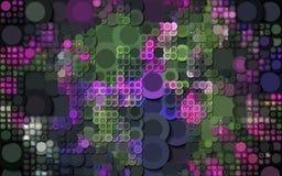 Абстрактным красочным произведенные кругом обои предпосылки Стоковое Изображение
