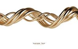 абстрактным линии предпосылки изолированные золотом Стоковая Фотография RF