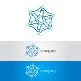абстрактным линия пересеченная сообщением логос Стоковое Изображение