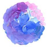 Абстрактным предпосылка круга покрашенная acrylic Стоковые Изображения
