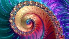 Абстрактным произведенный компьютером дизайн фрактали стоковые изображения