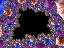 Абстрактным произведенный компьютером дизайн фрактали стоковое изображение rf