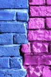 абстрактным стена покрашенная кирпичом multi Стоковые Изображения