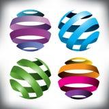 4 абстрактных глобуса бесплатная иллюстрация