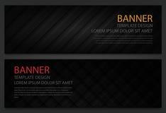 2 абстрактных черных знамени шаблон конструкции дела имеющеся оба eps8 форматирует вебсайт шаблона JPEG Горизонтальные установлен Стоковые Фото