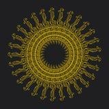 Абстракция вектора запаса любит солнце с ключами музыки Стоковое Изображение