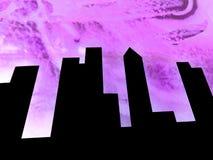 абстракция Город стоковое изображение