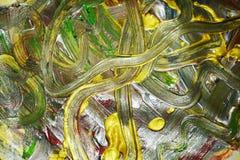Абстракция жидкого золота гипнотических сверкнать ходов кисти Предпосылка конспекта краски акварели стоковое изображение