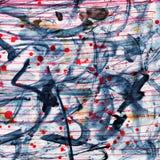 Абстракция каллиграфии Стоковая Фотография