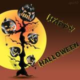 Абстракция плаката хеллоуина Стоковое Изображение