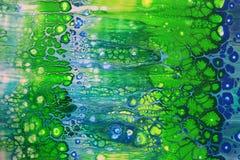 Абстракция предпосылки в форме зеленых, голубых, желтых пузырей Стоковая Фотография RF