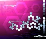 Абстракция предпосылки шестиугольника розовая футуристическая Бесплатная Иллюстрация