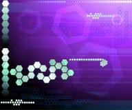 Абстракция предпосылки шестиугольника фиолетовая футуристическая Иллюстрация штока