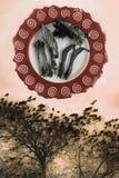 абстракция Птицы и косточки Птиц-бог Стоковое Изображение