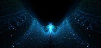 Абстракция пламенистого летания накаляя как замотка Стоковая Фотография