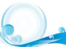 Абстракция, стеклянный шарик, скручиваемость, на белом backgro иллюстрация вектора