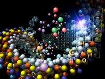 Абстракция химических элементов Стоковые Изображения