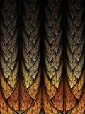 Абстракция шипа фрактали Стоковое Изображение RF