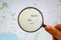 Абуджа, Нигерия Политическая карта стоковые изображения