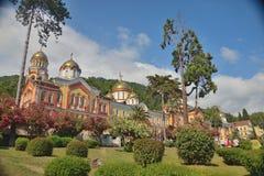 Абхазия Действовать очень красив и стар нового монастыря Athos стоковое фото rf