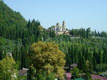 Абхазия, новый монастырь Athos стоковая фотография rf