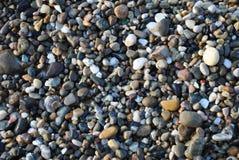 Абхазия черное море Прибрежные камешки Стоковые Фото