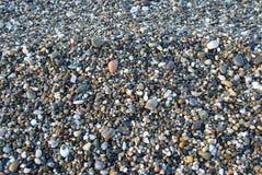 Абхазия черное море Прибрежные камешки Стоковая Фотография