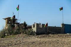 Аванпост Афганистана военный в середине пустыни стоковое фото rf