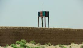 Аванпост Афганистана военный в середине пустыни стоковые изображения