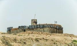 Аванпост Афганистана военный в середине пустыни стоковое изображение
