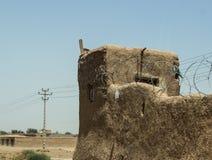 Аванпост Афганистана военный в середине пустыни стоковая фотография