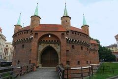 Аванпост барбакана Кракова средневековый, Польша стоковая фотография