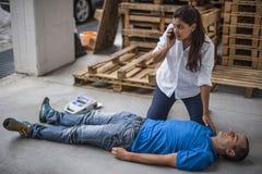 аварийная ситуация 911 звонока к Стоковое Изображение