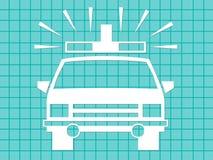 аварийная ситуация машины скорой помощи иллюстрация штока