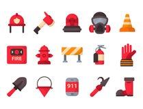 Аварийная ситуация оборудования пожарной безопасности оборудует иллюстрацию вектора предохранения от аварии опасности пожарного б бесплатная иллюстрация