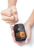 аварийная ситуация mms получила sms Стоковое Изображение