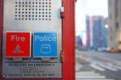 аварийная ситуация New York коробки Стоковое Изображение