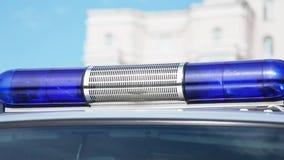 Аварийные освещения полиции сток-видео
